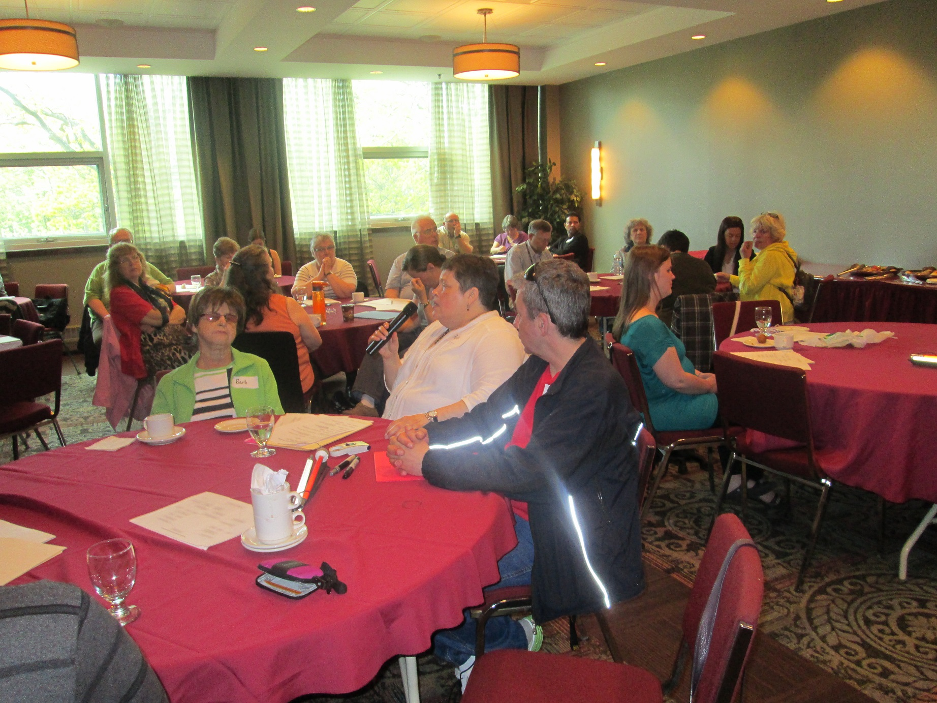 CCB members in Atlantic Canada listen attentively to a speaker during a 2014 Advocacy meeting.