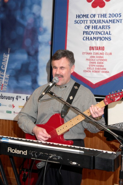 Terry Kelly Performs at Banquet