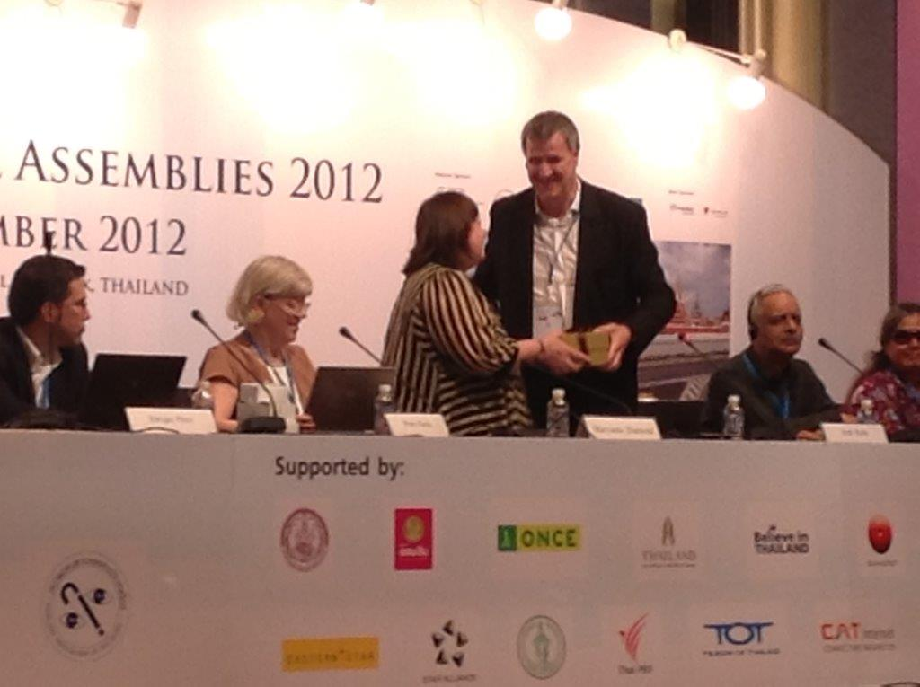 Head Table , 2012 World Blind Union General Assembly.