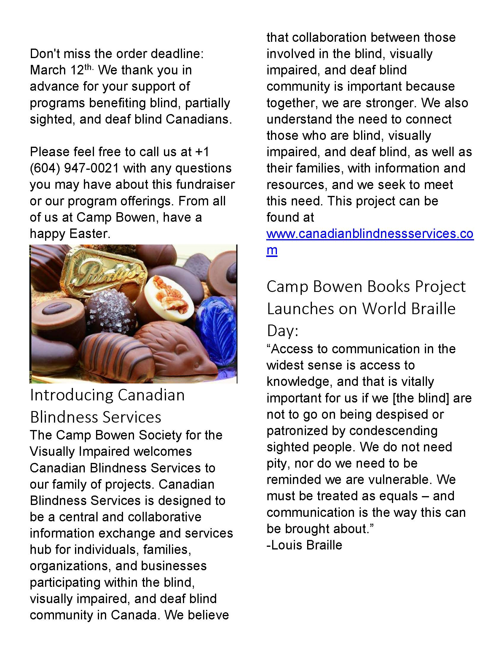 CCB Newsletters – Page 2 – Canadian Council of the Blind