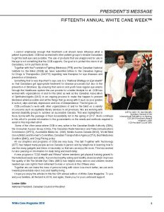 Welcome to White Cane week 2018 from Louise Gillis, page 2