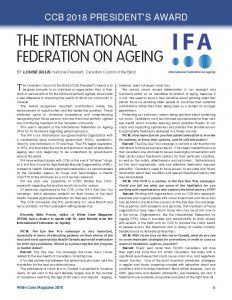 President's Award - The International Federation on Ageing