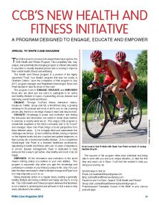 CCB's new health and fitness initiative