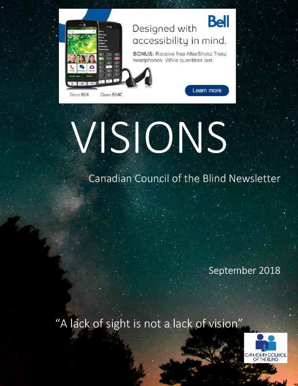 Front Page Canadian Council Of The Blind