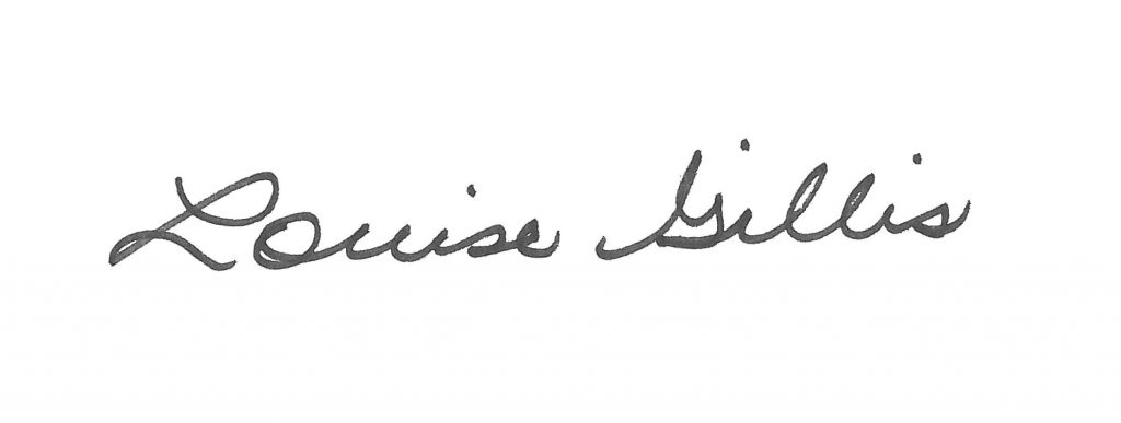 Louise Gillis' signature