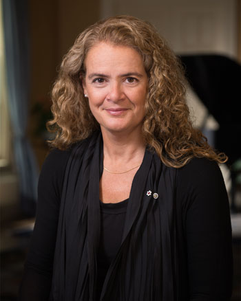 The Official Portrait of Her Excellency the Right Honourable Julie Payette, Governor General and Commander-in-Chief of Canada.