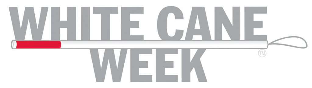 White Cane Week Logo.