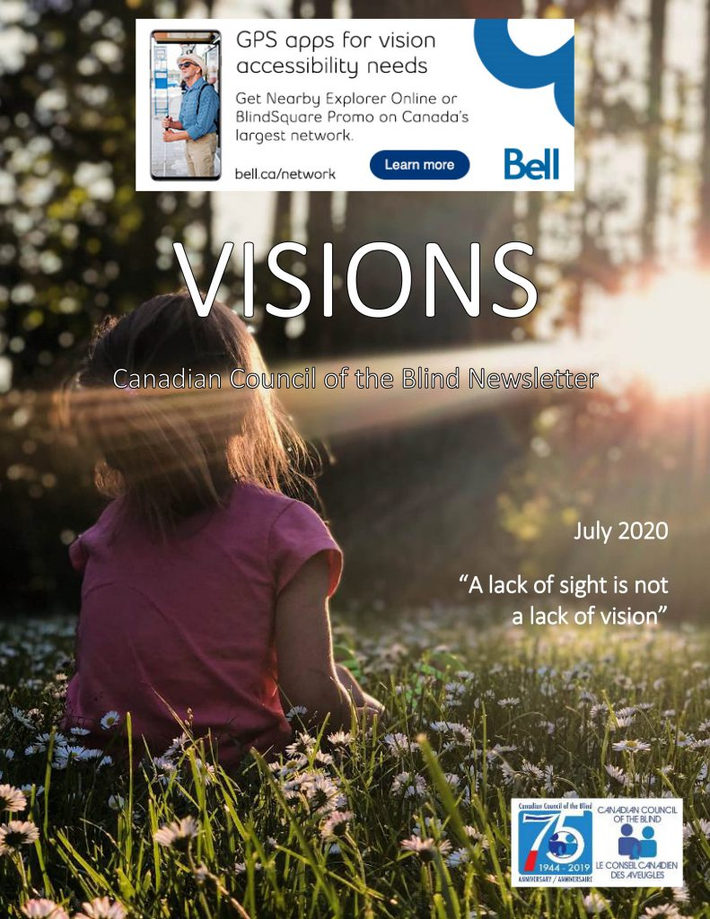 Cover of the July edition of VISIONS.