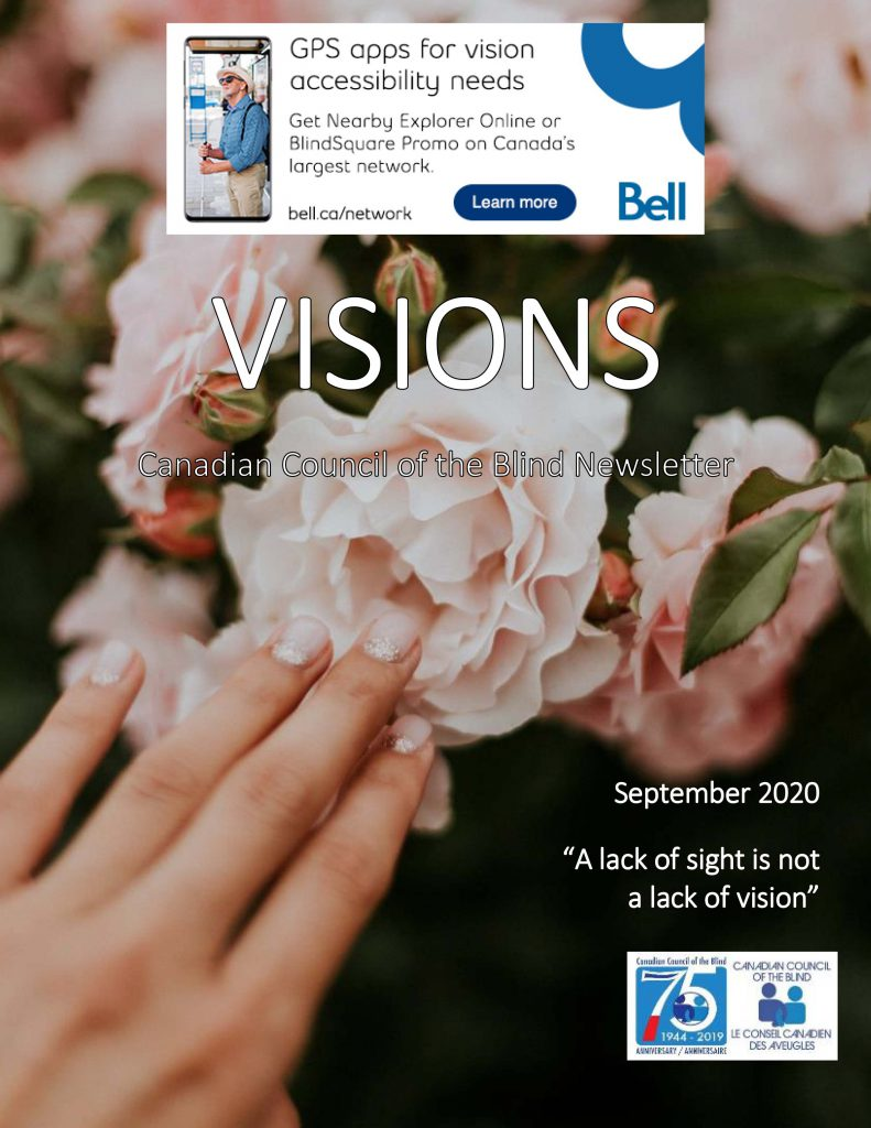 Cover of the Visions September newsletter.